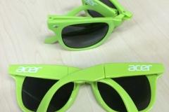 Occhiali Acer verdi pieghevoli